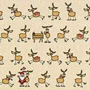 Tessuto natalizio Rudolph – beige