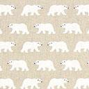 Tessuto natalizio Orso polare – beige