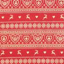 Tessuto natalizio Fantasia di cuori – crema