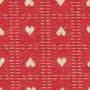 Tessuto natalizio Cuoricini – rosso carminio