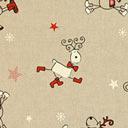Linen Comic Reindeer 1