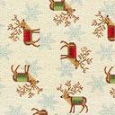 Tessuto natalizio Inverno – beige chiaro