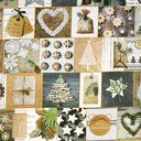 Tessuto natalizio Rami – mix di colori
