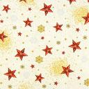 Tessuto natalizio Stelle – bianco lana