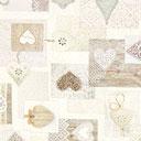 Tessuto natalizio Mondo invernale – bianco lana