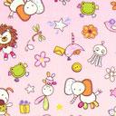 Estampado de algodón Guardería – rosa