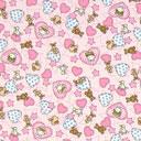 Estampado de algodón Ositos de peluche – rosa