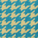 Samt Hahnentritt klein – hellblau