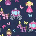 Tela de jersey Pequeña princesa – azul marino