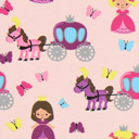Tela de jersey Pequeña princesa – rosa oscuro