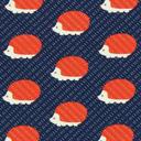 Tela de jersey Erizo – azul marino