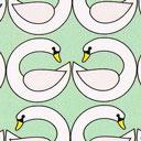 Popelina Cisne – verde menta