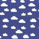 Popelina Nubes – azul