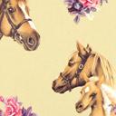 Cretona Granja de ponis – beige