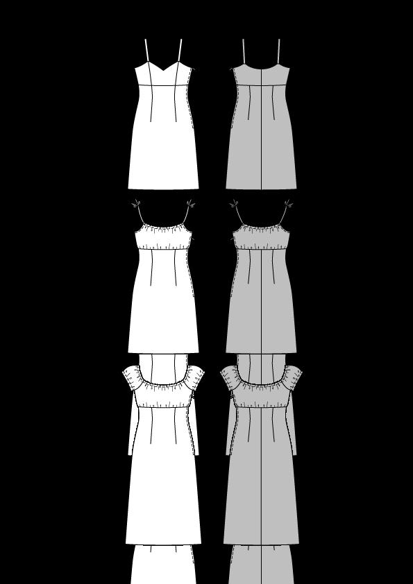 Выкройки сарафанов ампир