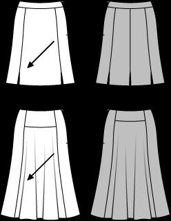 Kjol Långkjol, Burda 6880