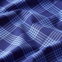 85dc7837626d5 Hemdenstoff Baumwolle Karo – marineblau hellblau