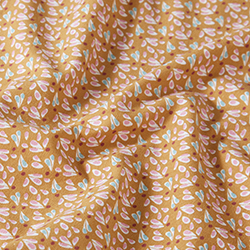 ed8b72ee845 Subtle Leaf Flower Hearts Cotton Jersey – brown/yellow