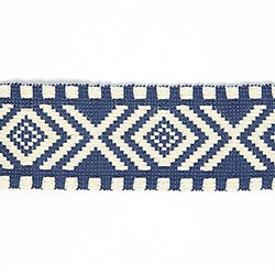 Webband Ikat Inuit   3   Blau/natur