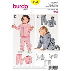 5cb1147a0ab2 Babyjacka | Blusjacka | Byxor, Burda 9349 | 68 - 98