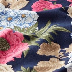 f8417cf5583 Bomuldsjersey Vilde roser & Hortensier – marineblå/pink