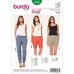 5936931c7d49 Byxor med resår / Bermudas / Shorts, Burda 6938