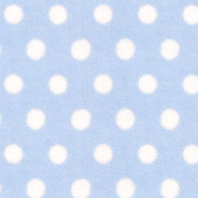 Fleece babyblau Punkte Stoff