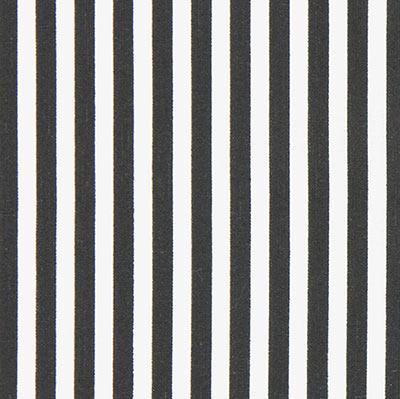 Baumwollstoff gestreift schwarz weiß