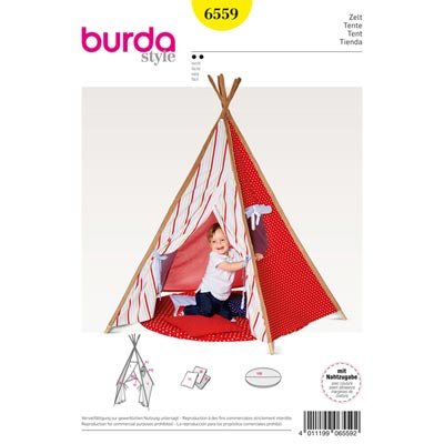 zelt indianerzelt tipi kissen burda 6559 burda schnittmuster deko ideen. Black Bedroom Furniture Sets. Home Design Ideas