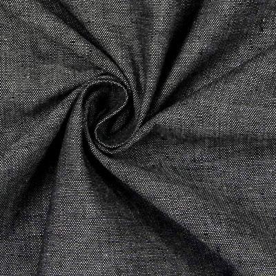 Stoff Denim-Optik Baumwolle dunkelgrau