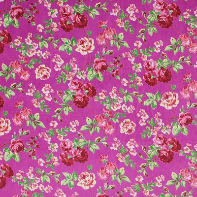Samt Blumensamt Stoff purpur