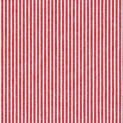 Jeansstoff mit Streifen rot weiß