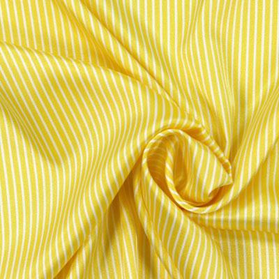 Stretch Satin gelb weiß Stoff