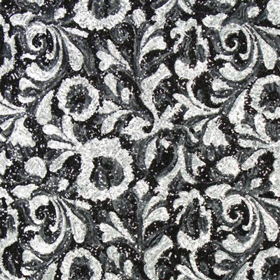 Sequin fabric silver black sequin fabricsfavorable buying at our