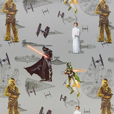 star wars verdunkelungsstoff die macht grau verdunkelungsstoffe f r kinder. Black Bedroom Furniture Sets. Home Design Ideas