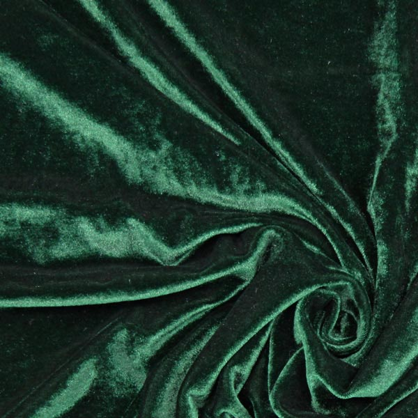 Stretch Samt - dunkelgrün - Muster