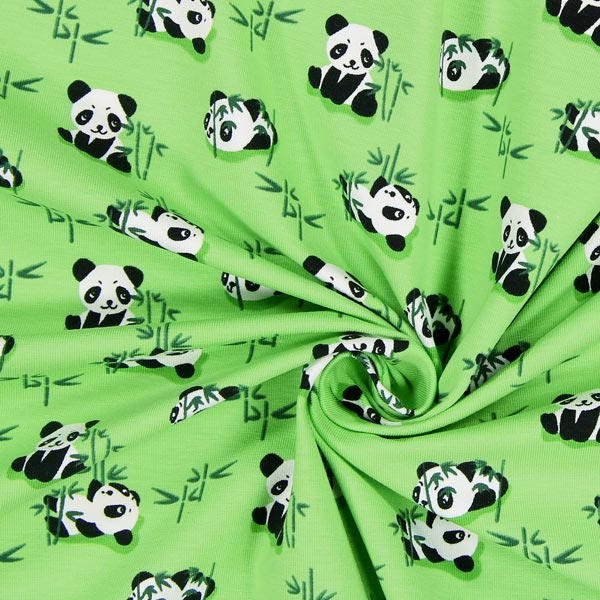 Single jersey lazy pandas 1 children 39 s clothing for Children s jersey fabric uk