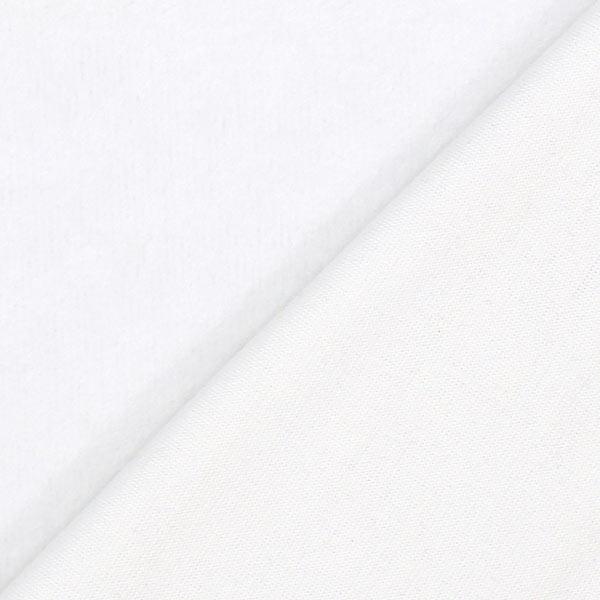 Weißes Alpenfleece