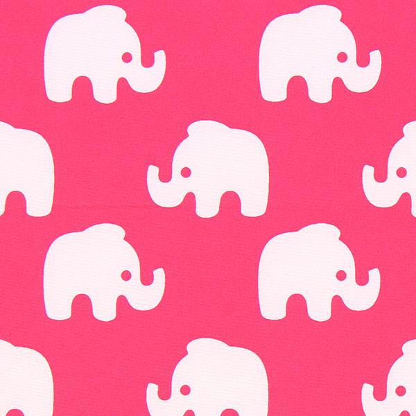 Rosafarbener Softshell mit weißen Elefanten