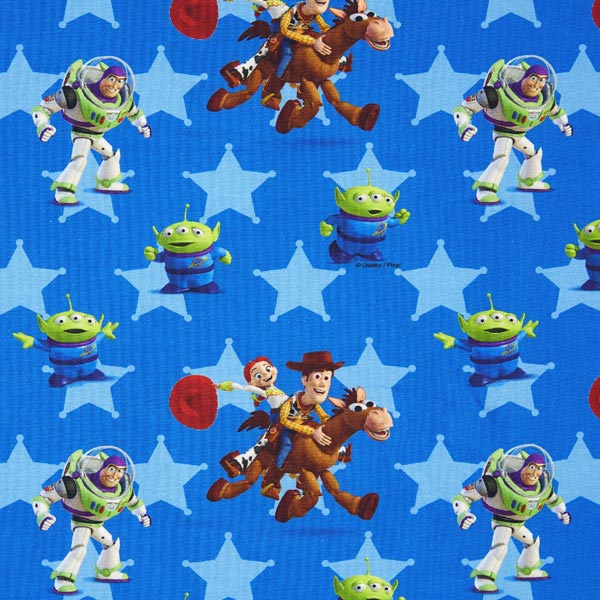 Disney toy story characters jersey cotton for Kids character fabric