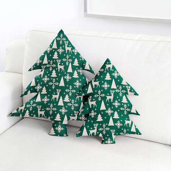 tissu en coton no l flocons de neige cerf vert fonc. Black Bedroom Furniture Sets. Home Design Ideas