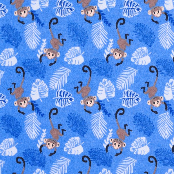 Flanell mit Affen & Palmenwedeln