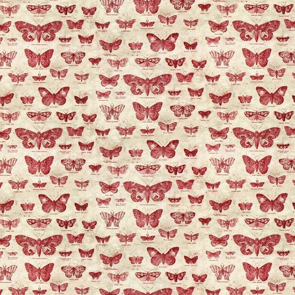Free Spirit – Schmetterlinge – rot – Muster