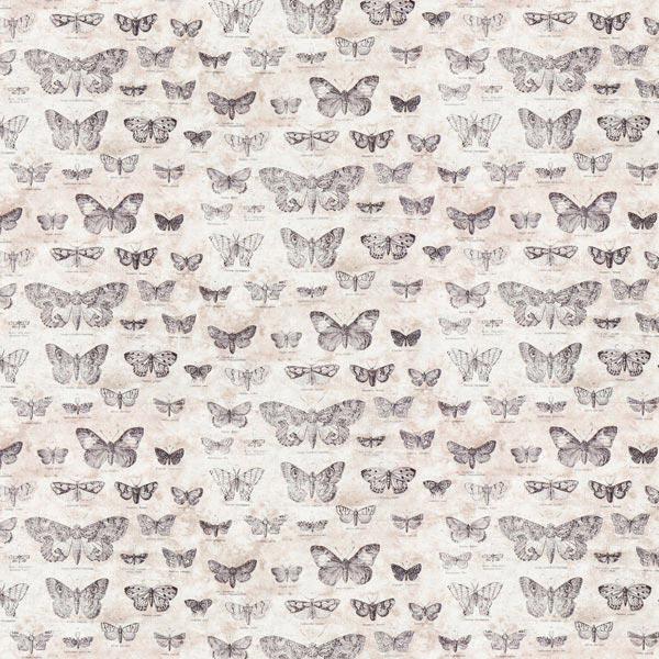 Free Spirit – Schmetterlinge – beige – Muster