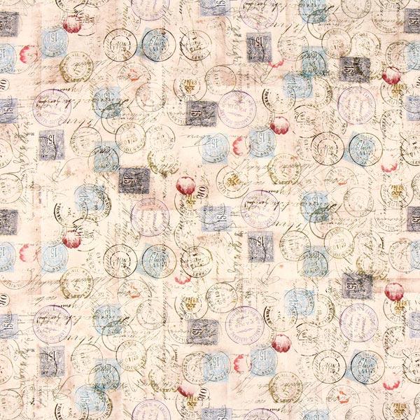 Free Spirit – Briefmarken – beige - Muster