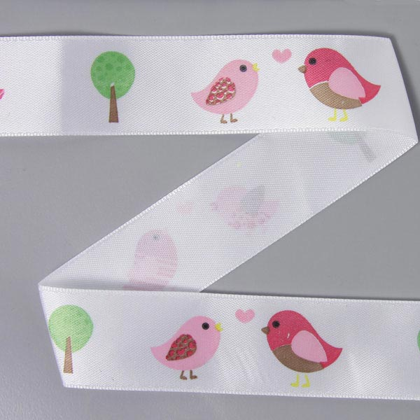 Satinband Lovely Birds