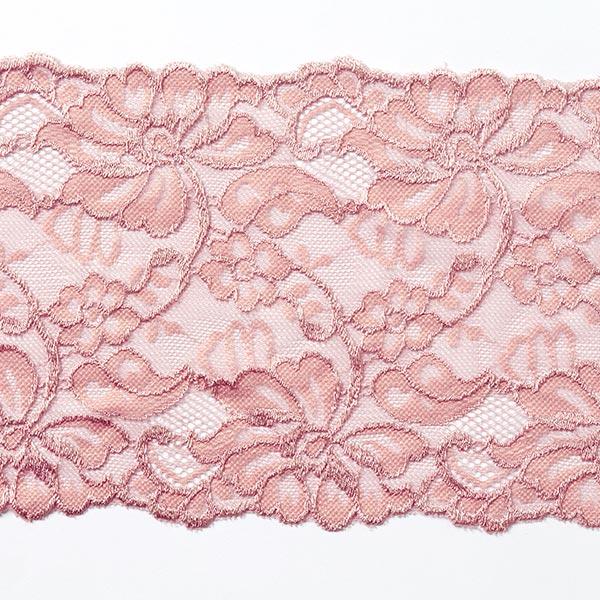 Encaje elástico Selene [150 mm] - rosa antiguo - Encajes y volantes ...