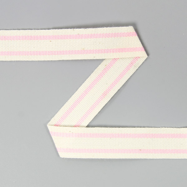 Baumwollband Streifen 7