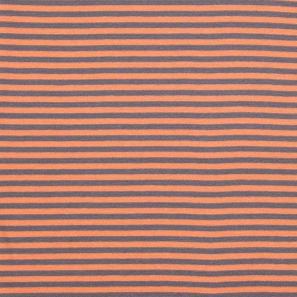 Streifenbündchen 3 - rotorange - Muster