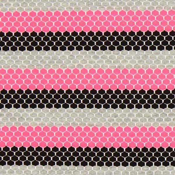 Jersey Waben – neonpink – Muster